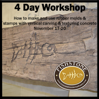 4 Day Workshop mold making and vertical carving