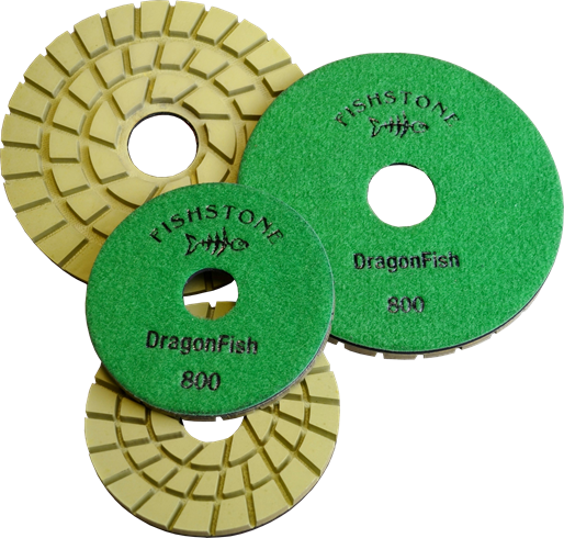 "DragonFish, 5"" Concrete Polishing Pad, Full Set 30-3000grit"