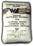 Federal White Cement, 92.4lb bag, Type 1