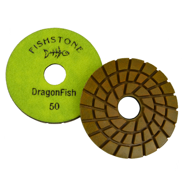 "DragonFish, 5"" Concrete Polishing Pad, 50 Grit"