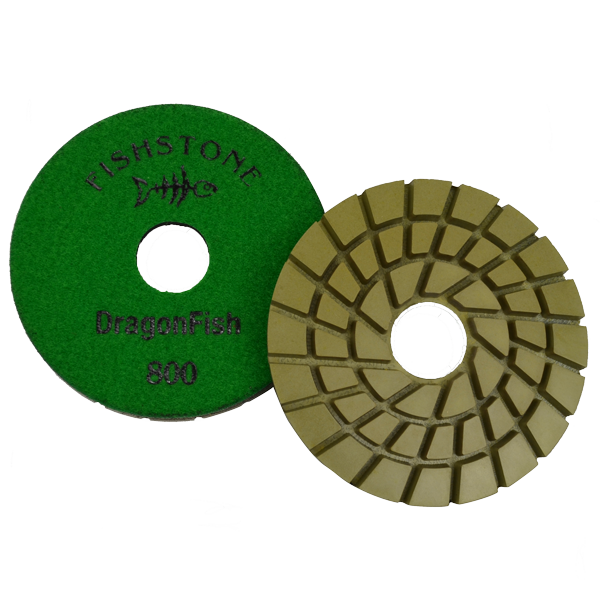 "DragonFish, 5"" Concrete Polishing Pad, 800 Grit"
