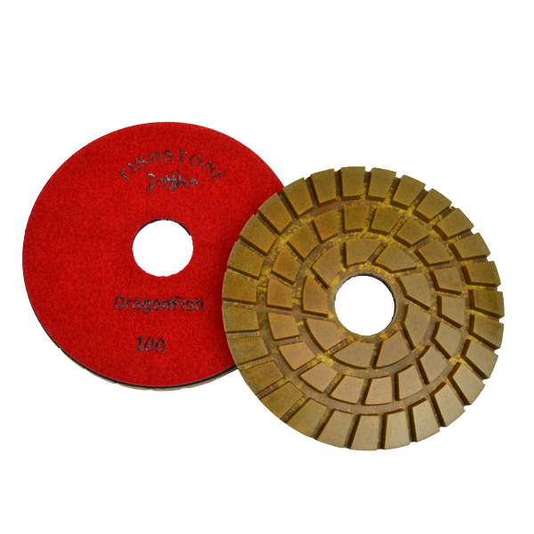 "DragonFish, 7"" Concrete Polishing Pad, 100 Grit"