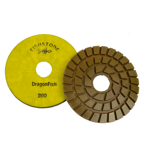 "DragonFish, 7"" Concrete Polishing Pad, 200 Grit"