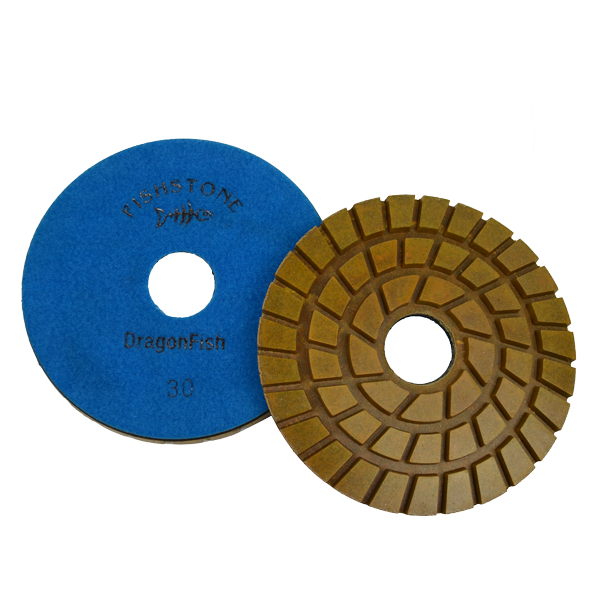 "DragonFish, 7"" Concrete Polishing Pad, 30 Grit"