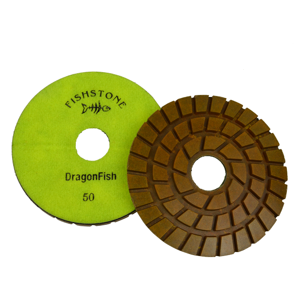 "DragonFish, 7"" Concrete Polishing Pad, 50 Grit"