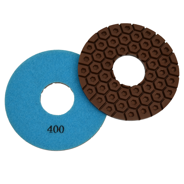 Hexagon Concrete Polishing Pad, 400 Grit