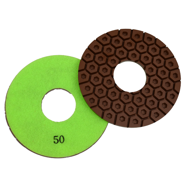 Hexagon Concrete Polishing Pad, 50 Grit