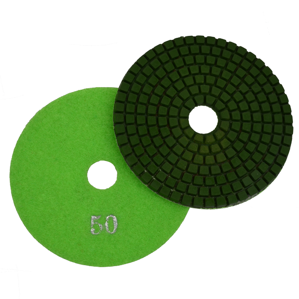 "Super Flex 4"" Concrete Polishing Pad 50 Grit"