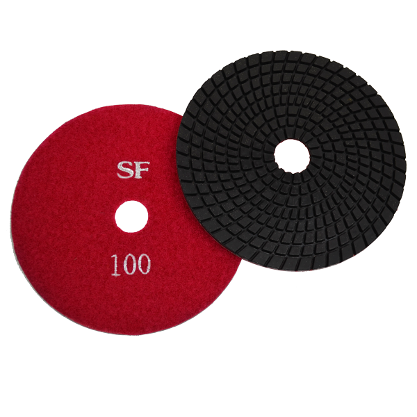 "Super Flex 5"" Concrete Polishing Pad 100 Grit, turbo"