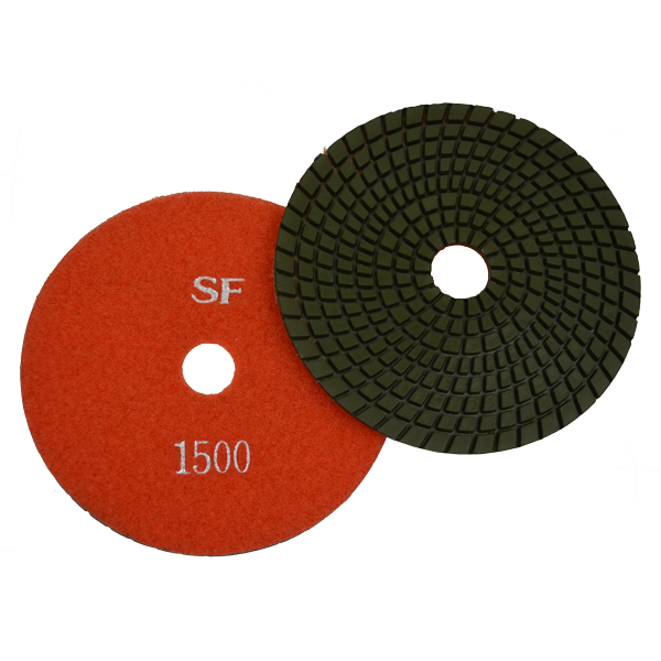 "Super Flex 5"" Concrete Polishing Pad 1500 Grit, turbo"