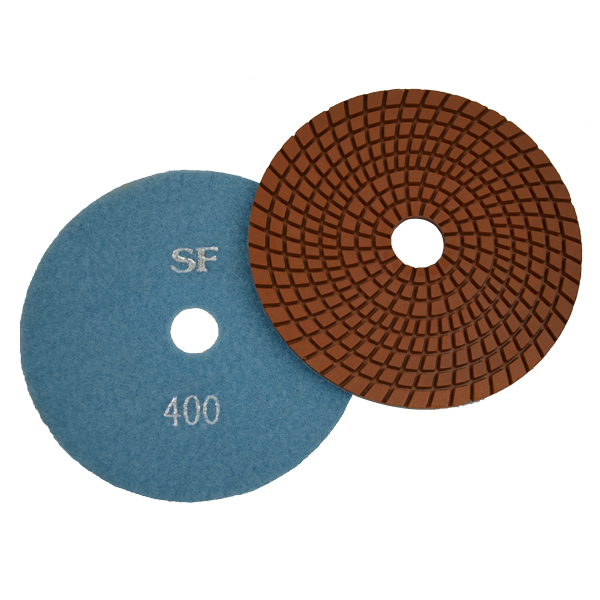 "Super Flex 5"" Concrete Polishing Pad 400 Grit, turbo"