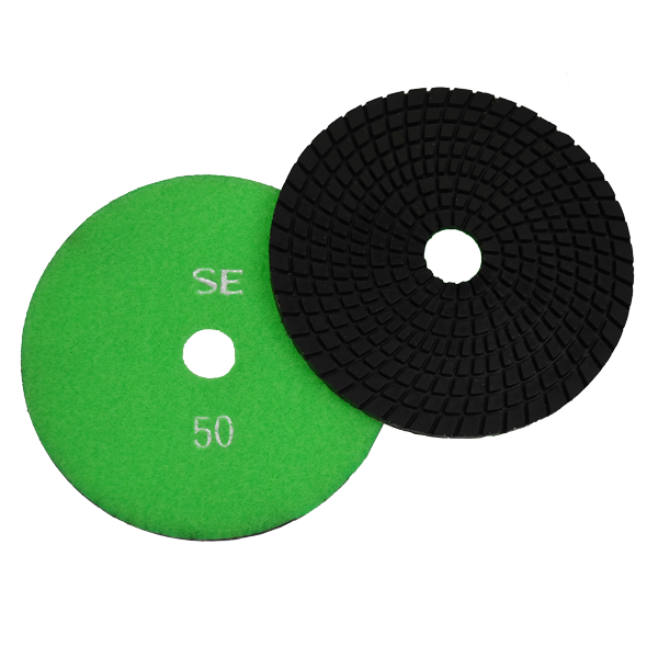 "Super Flex 5"" Concrete Polishing Pad 50 Grit, turbo"
