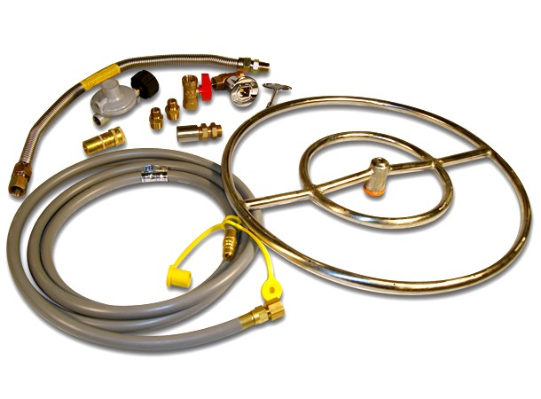 "18"" Natural Gas Round Burner Kit"