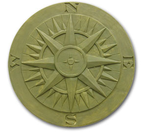 Compass Rose Stepping Stone Mold
