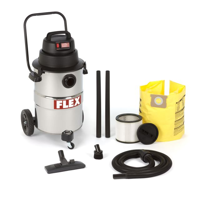Flex, VC12 Wet/Dry Vac w/ on-demand power
