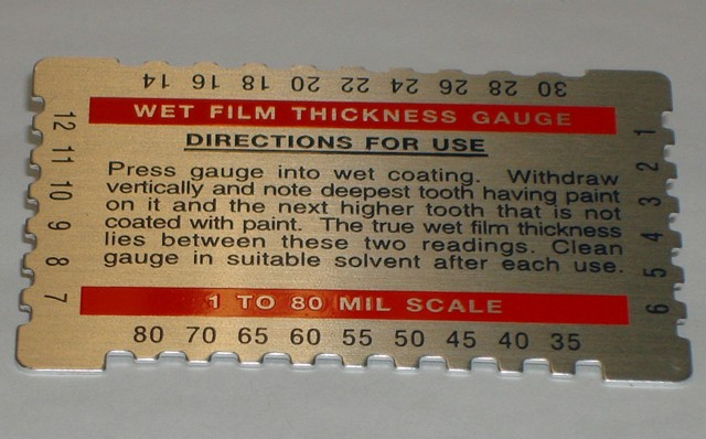 Wet Thickness Mil Gauge