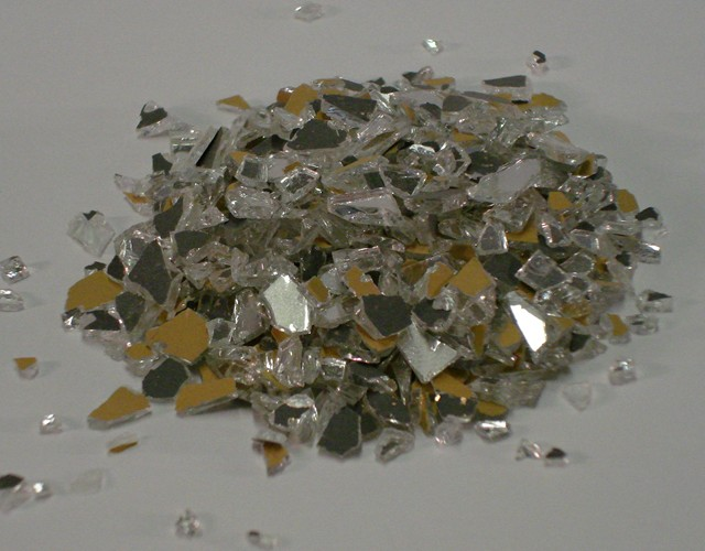 Glass Aggregate: One Sided Mirror