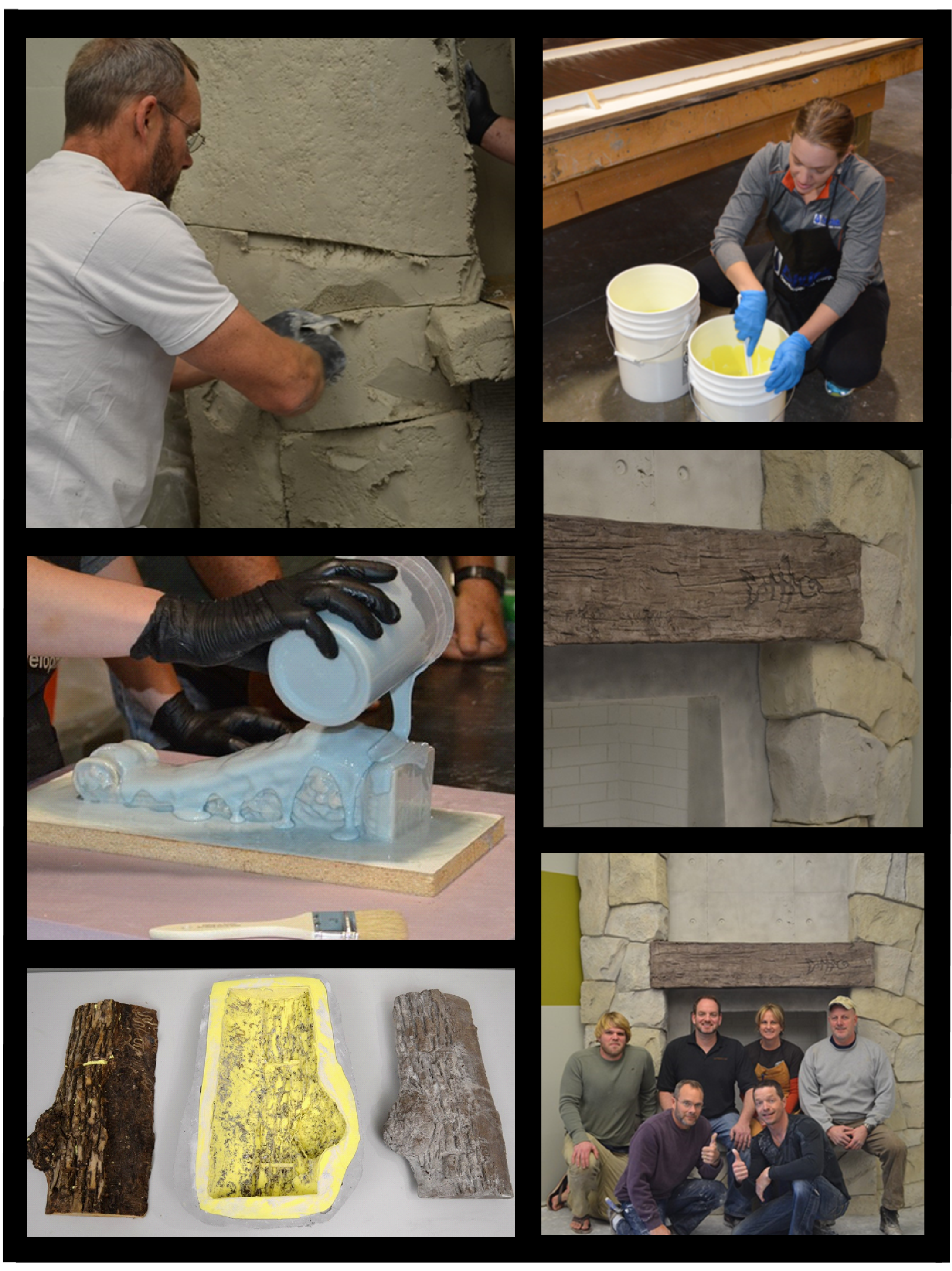 4 Day Workshop, How to make and use rubber molds & stamps with vertical carving & texturing concrete